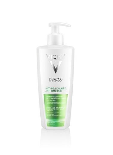 Vichy VICHY Dercos Anti-Pelliculaire (Anti-Dandruff) SEC Dry Hair Shampoo 390 ml - Kepek (Kuru saç) Renksiz